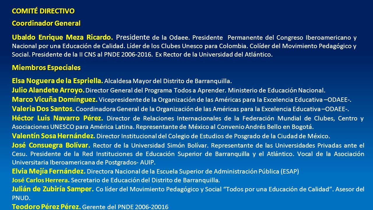 Teodoro Pérez Pérez. Gerente del PNDE 2006-20016