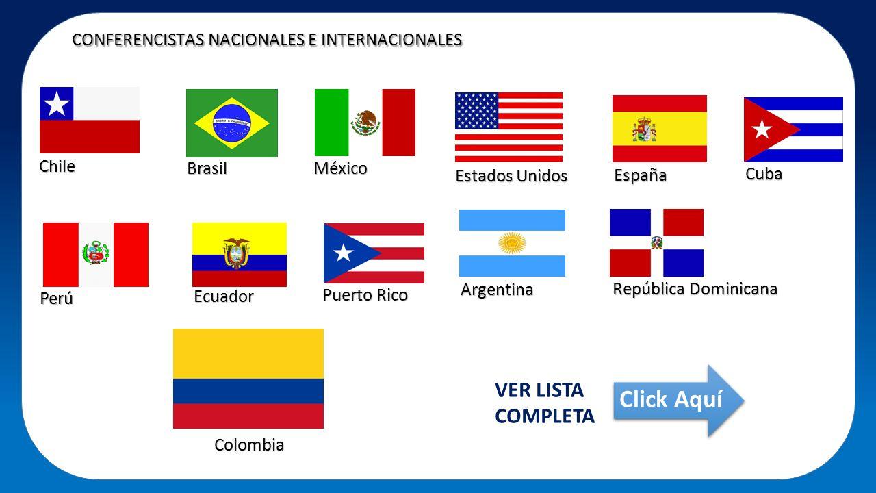 CONFERENCISTAS NACIONALES E INTERNACIONALES