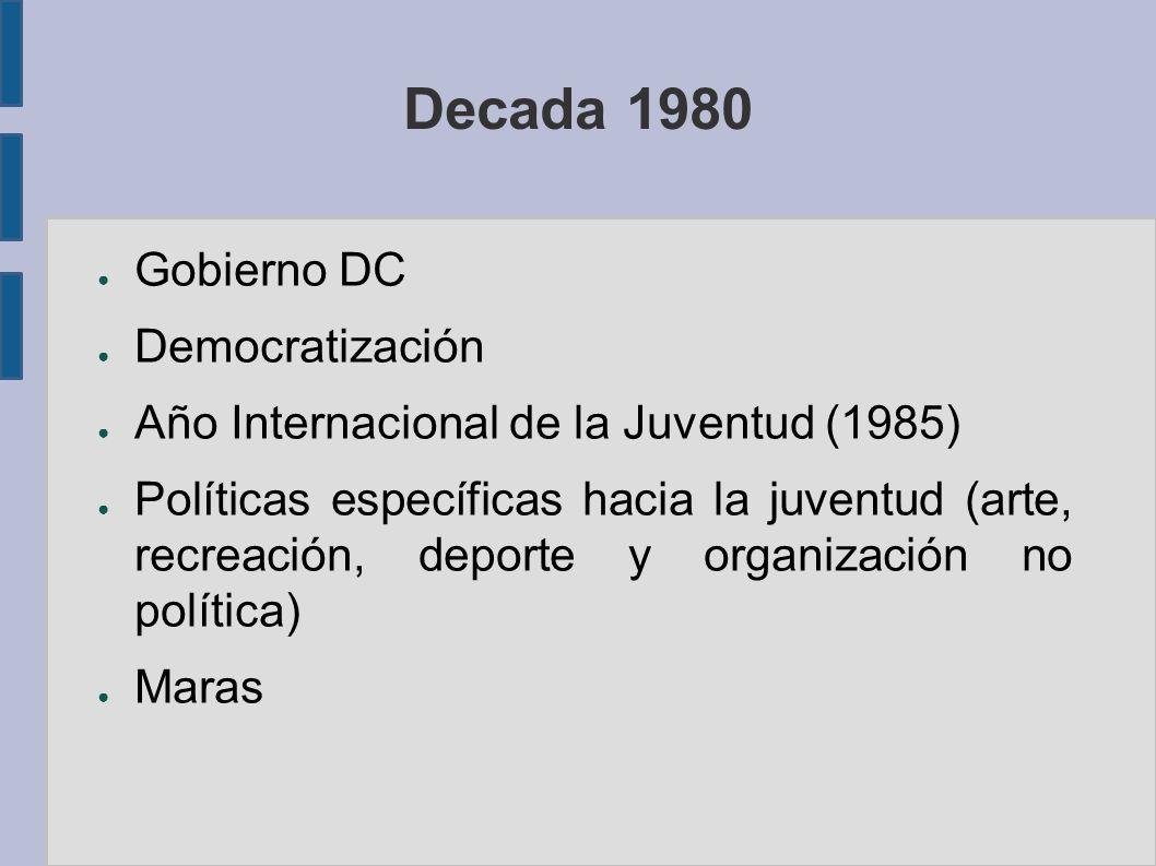 Decada 1980 Gobierno DC Democratización