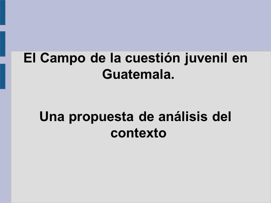 El Campo de la cuestión juvenil en Guatemala.