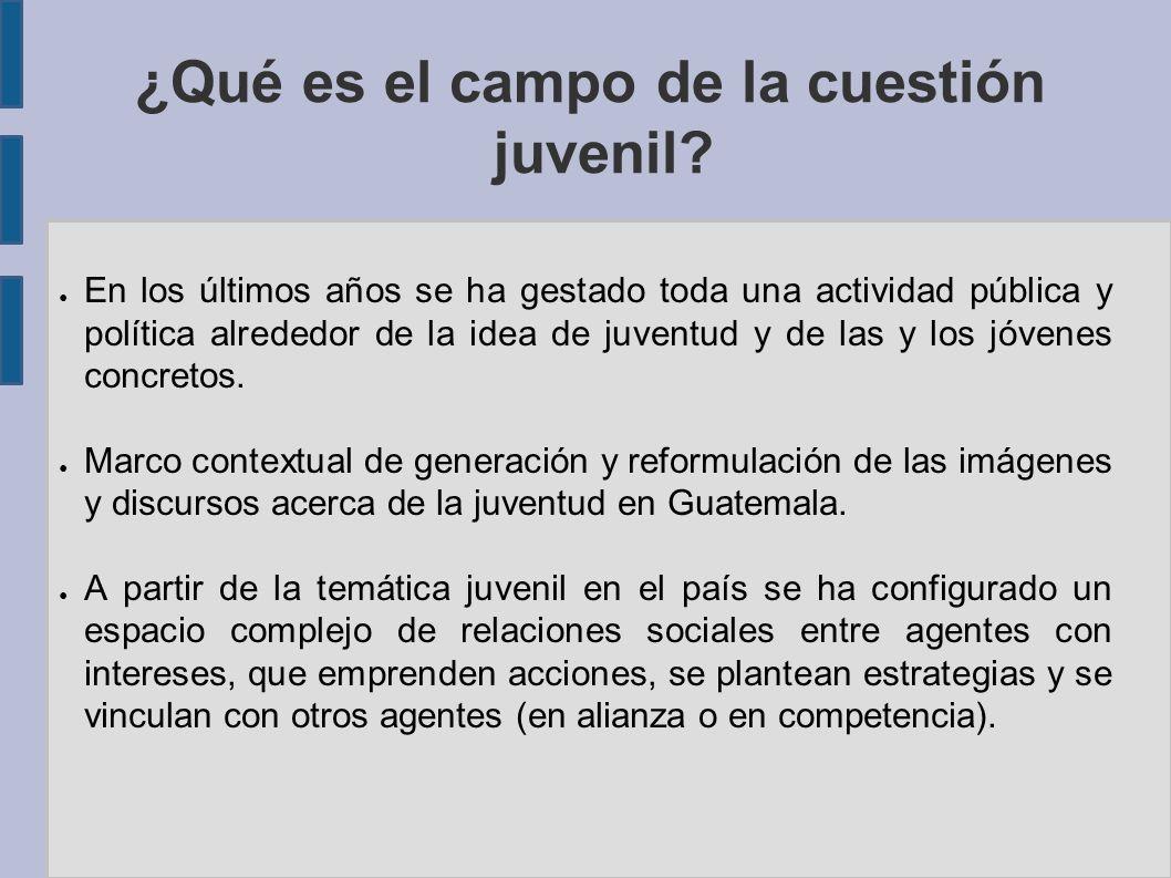 ¿Qué es el campo de la cuestión juvenil