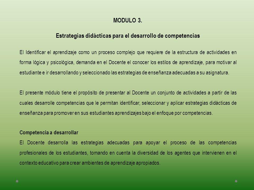 Estrategias didácticas para el desarrollo de competencias