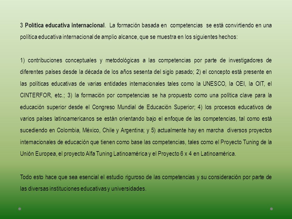 3 Política educativa internacional