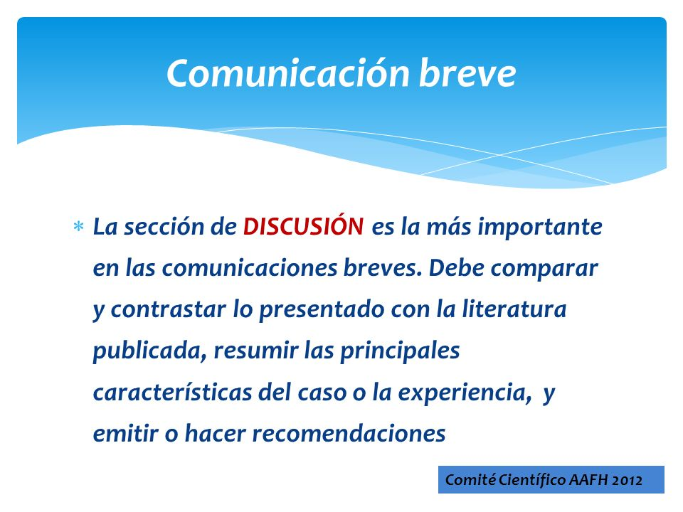 Comunicación breve