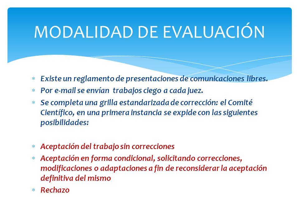 MODALIDAD DE EVALUACIÓN