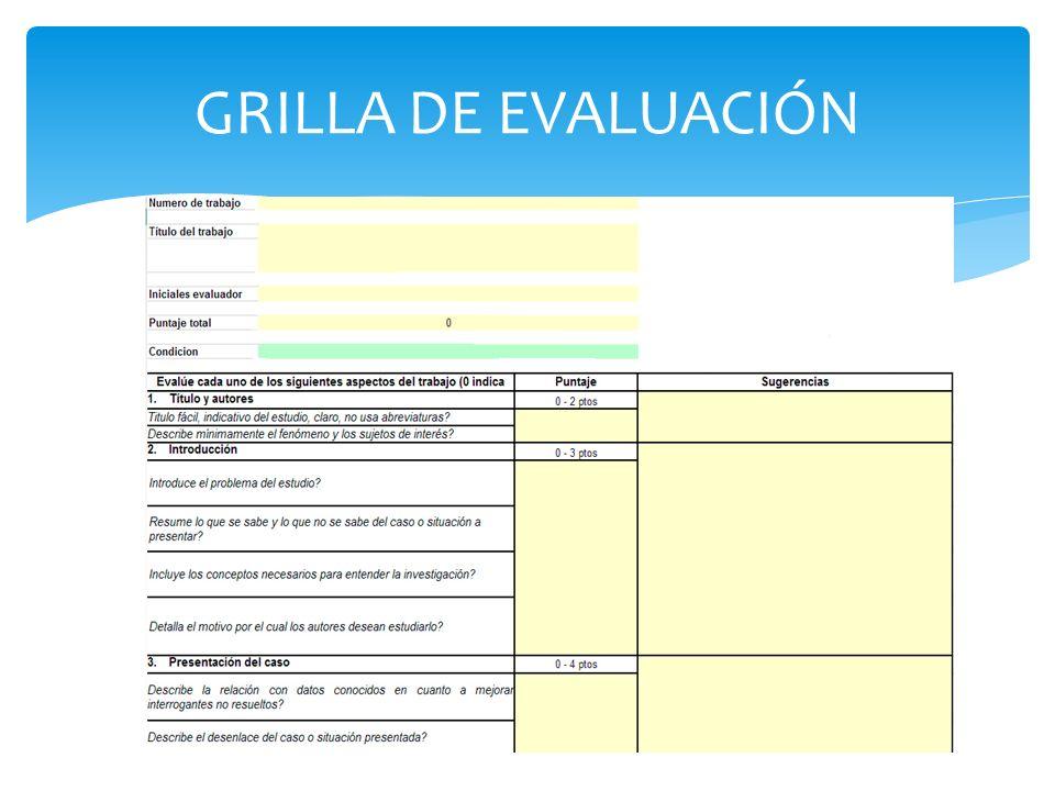 GRILLA DE EVALUACIÓN
