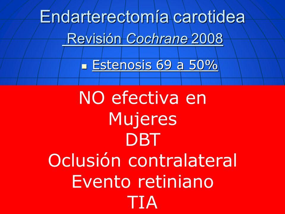 Endarterectomía carotidea Revisión Cochrane 2008