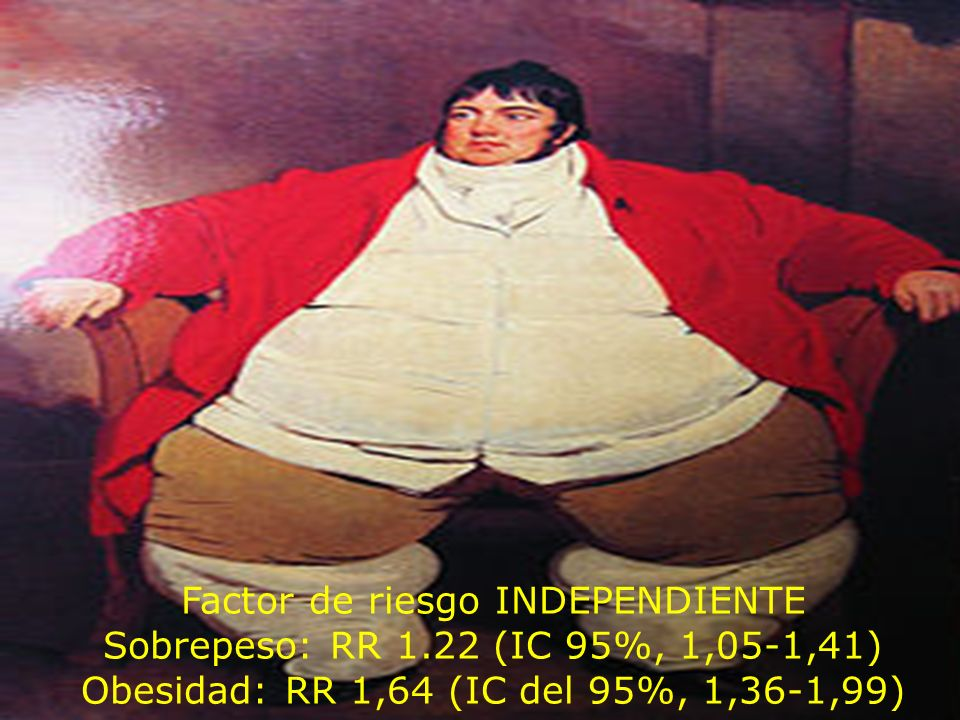 Obesidad Factor de riesgo INDEPENDIENTE