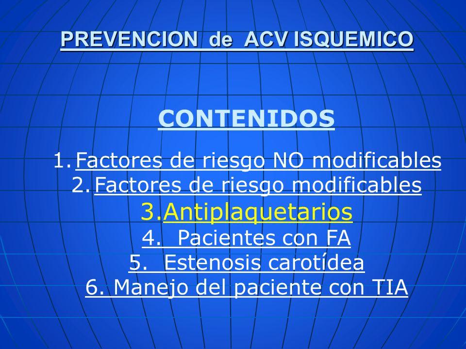 PREVENCION de ACV ISQUEMICO