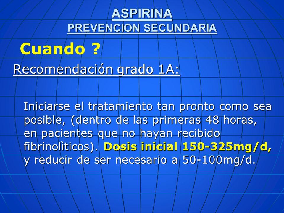 ASPIRINA PREVENCION SECUNDARIA
