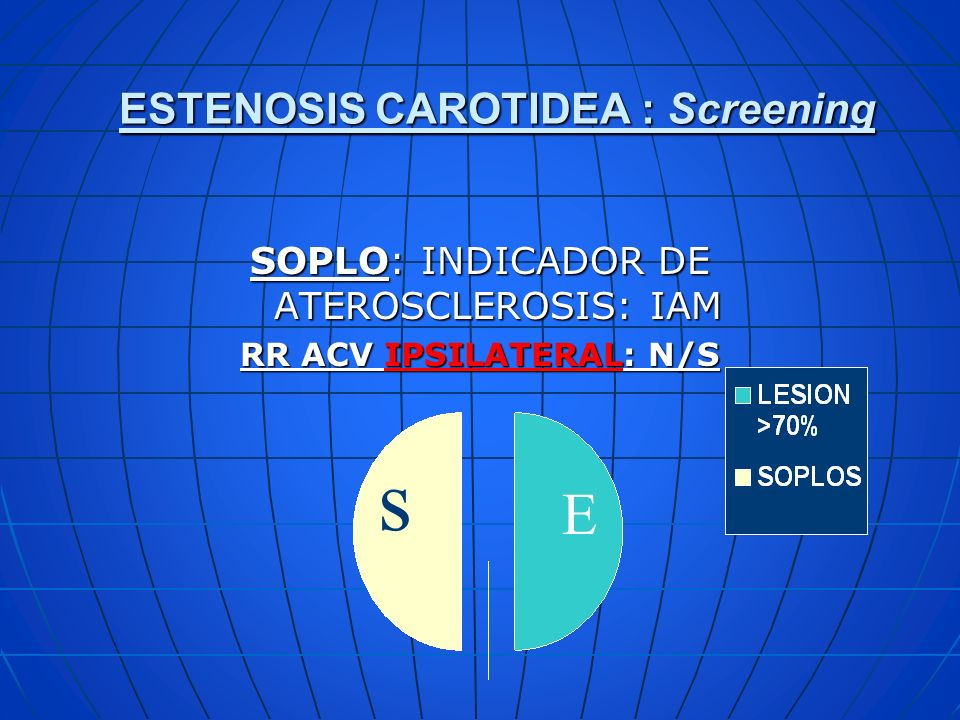 ESTENOSIS CAROTIDEA : Screening