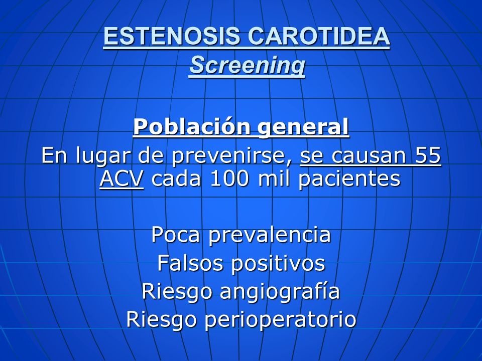 ESTENOSIS CAROTIDEA Screening