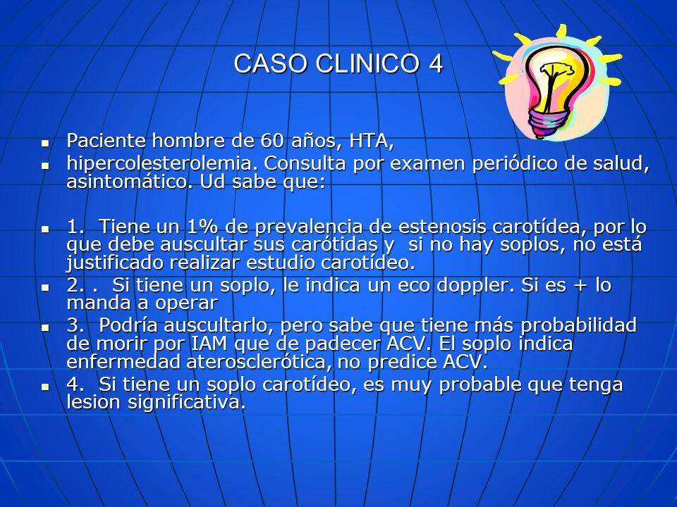 CASO CLINICO 4 Paciente hombre de 60 años, HTA,