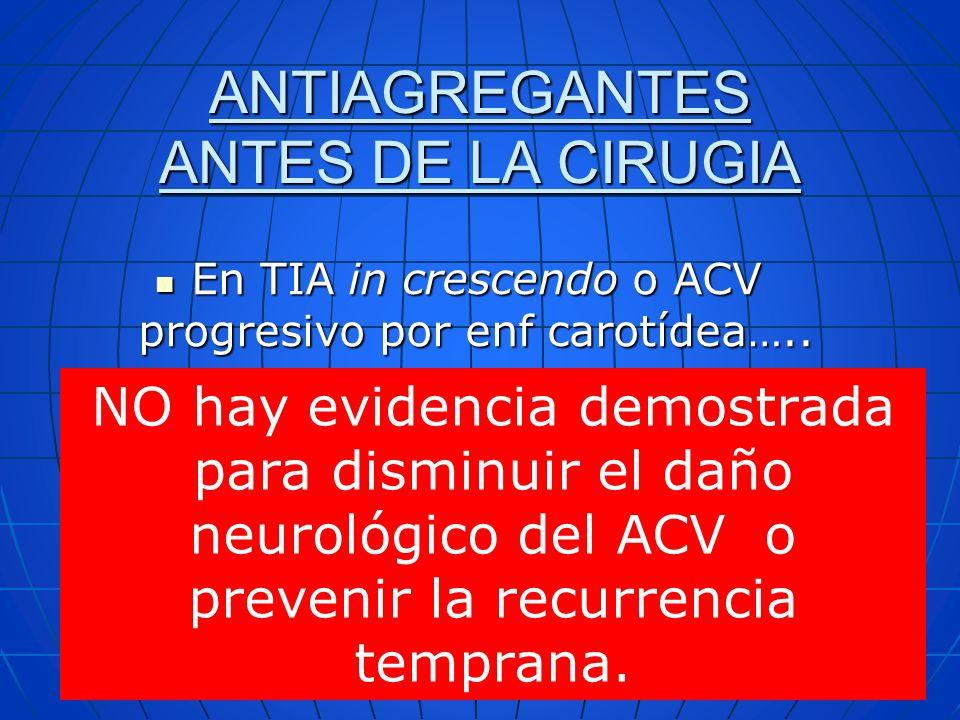 ANTIAGREGANTES ANTES DE LA CIRUGIA