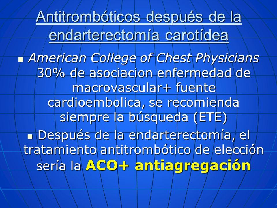 Antitrombóticos después de la endarterectomía carotídea
