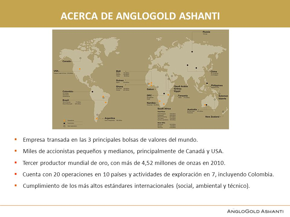 ACERCA DE ANGLOGOLD ASHANTI
