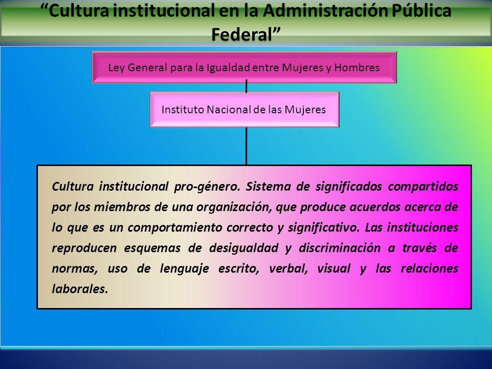 Cultura institucional en la Administración Pública Federal