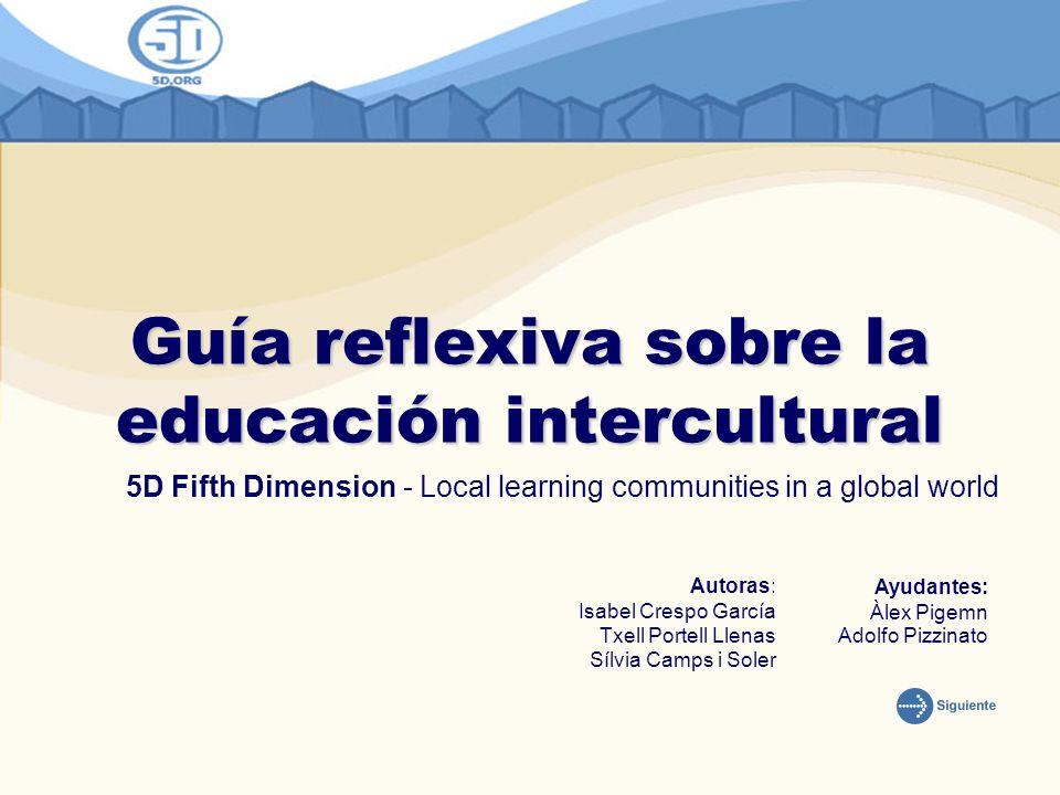 Guía reflexiva sobre la educación intercultural