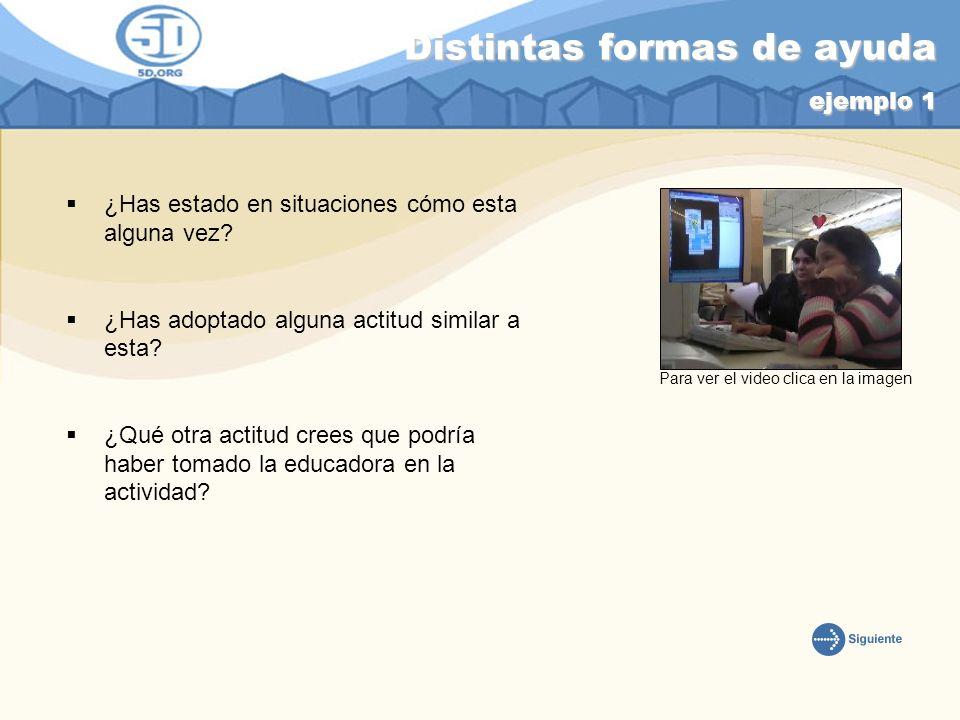 Distintas formas de ayuda ejemplo 1