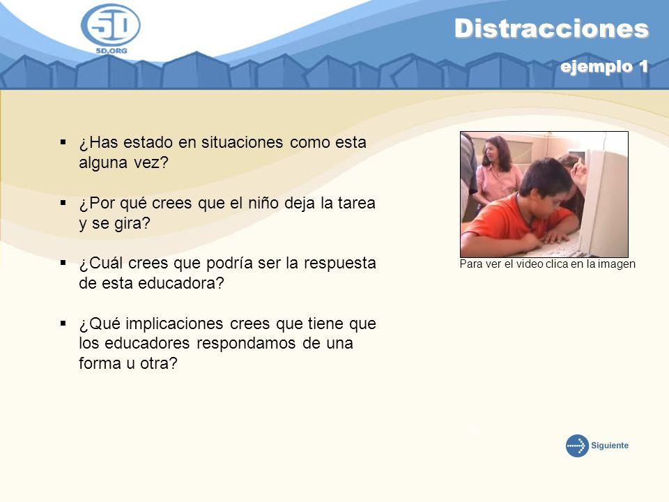 Distracciones ejemplo 1