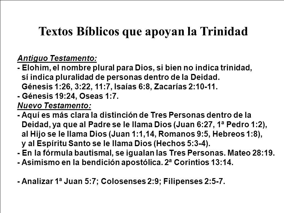 Textos Bíblicos que apoyan la Trinidad