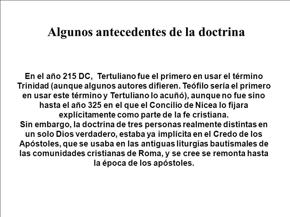 Algunos antecedentes de la doctrina