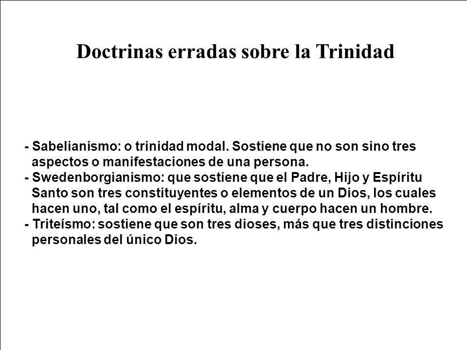 Doctrinas erradas sobre la Trinidad