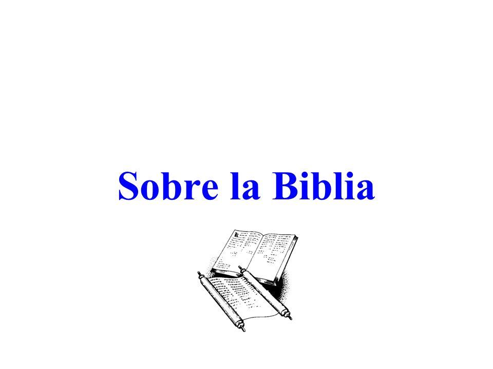 Sobre la Biblia