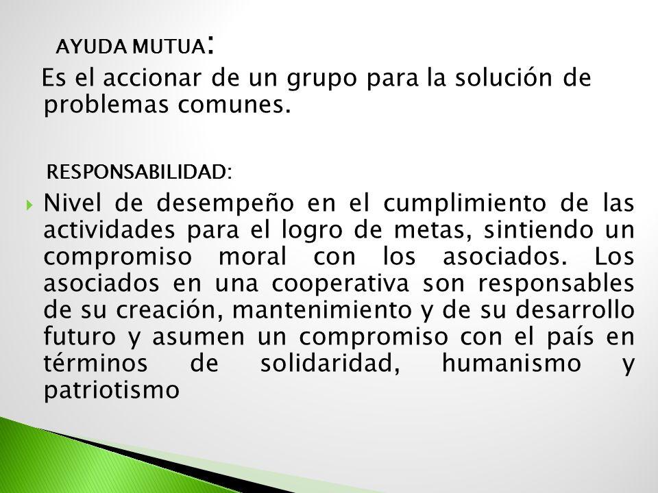 Ayuda Mutua: Responsabilidad:
