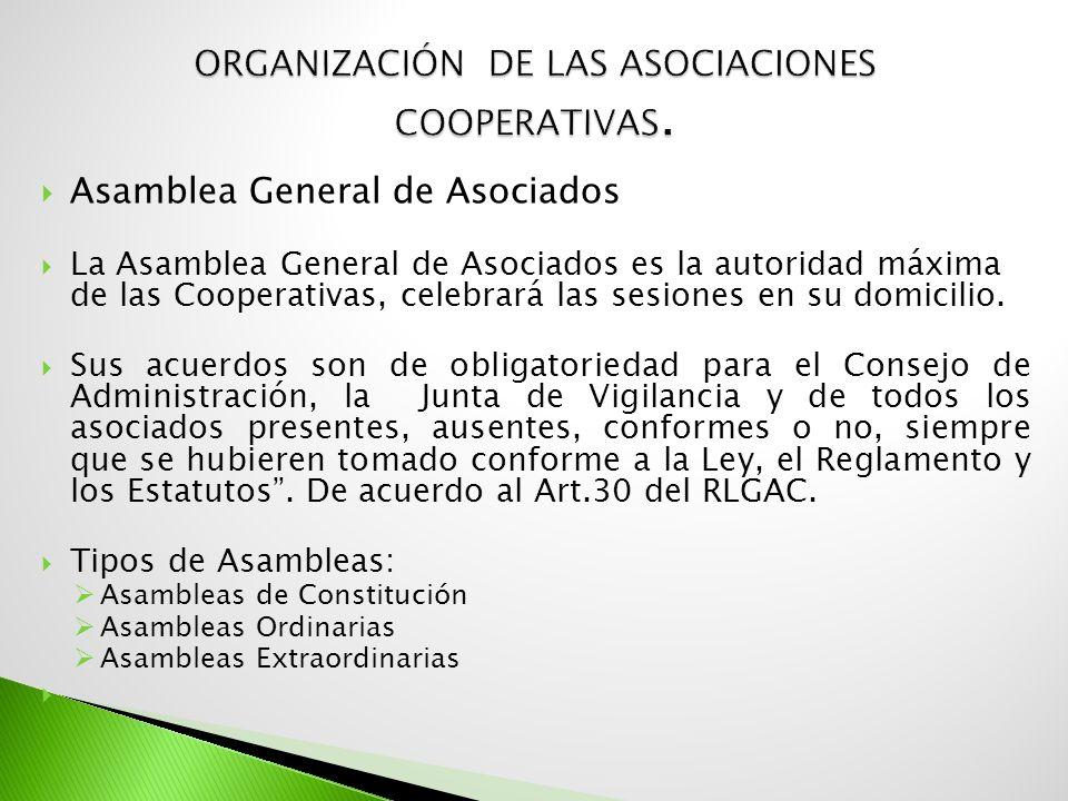 ORGANIZACIÓN DE LAS ASOCIACIONES COOPERATIVAS.