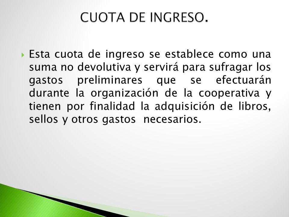 Cuota de Ingreso.