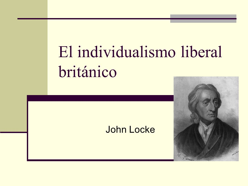 El individualismo liberal británico