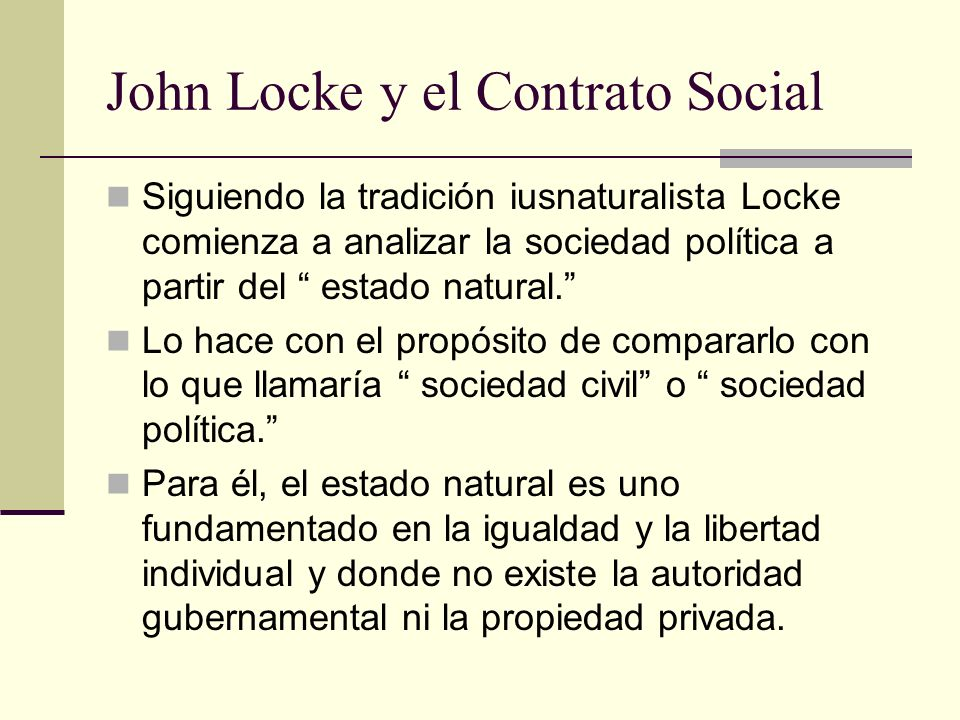 John Locke y el Contrato Social