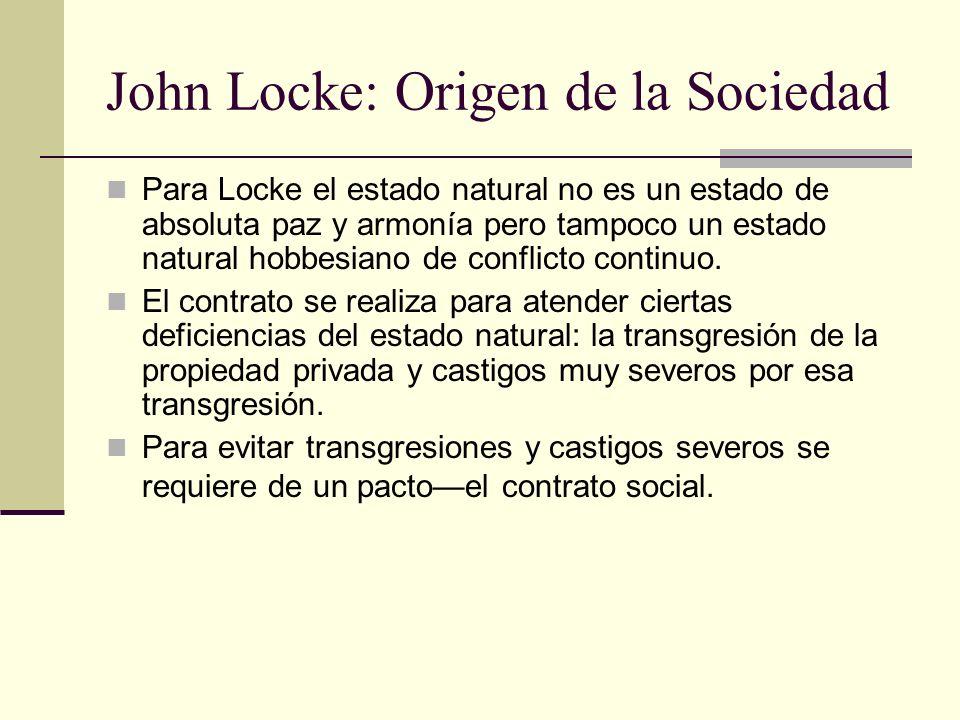 John Locke: Origen de la Sociedad