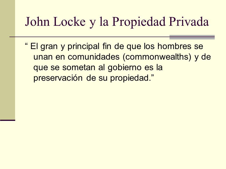 John Locke y la Propiedad Privada
