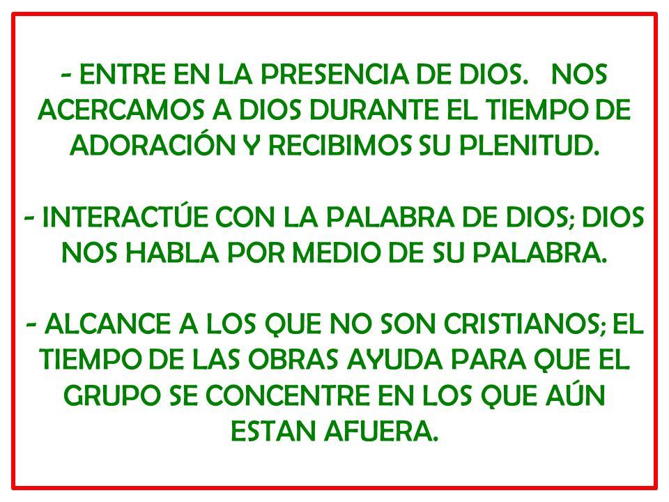 - ENTRE EN LA PRESENCIA DE DIOS