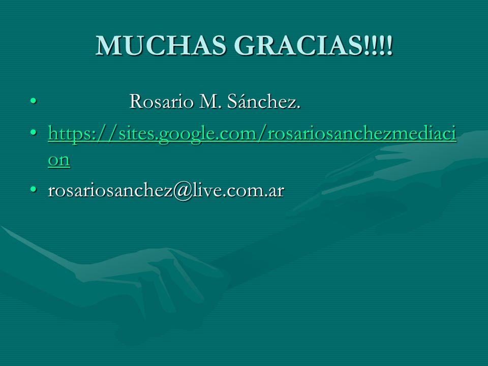 MUCHAS GRACIAS!!!! Rosario M. Sánchez.