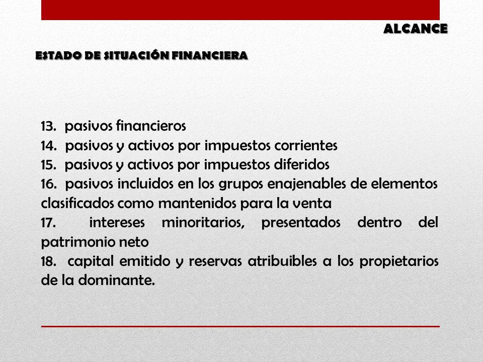 14. pasivos y activos por impuestos corrientes