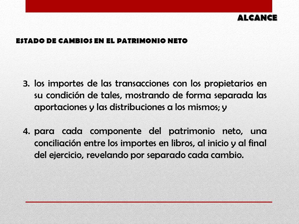 ALCANCE ESTADO DE CAMBIOS EN EL PATRIMONIO NETO.