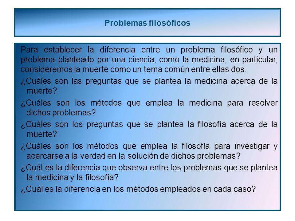 Problemas filosóficos