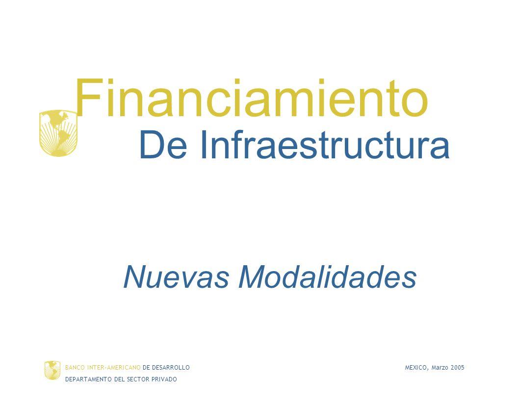 Financiamiento De Infraestructura Nuevas Modalidades