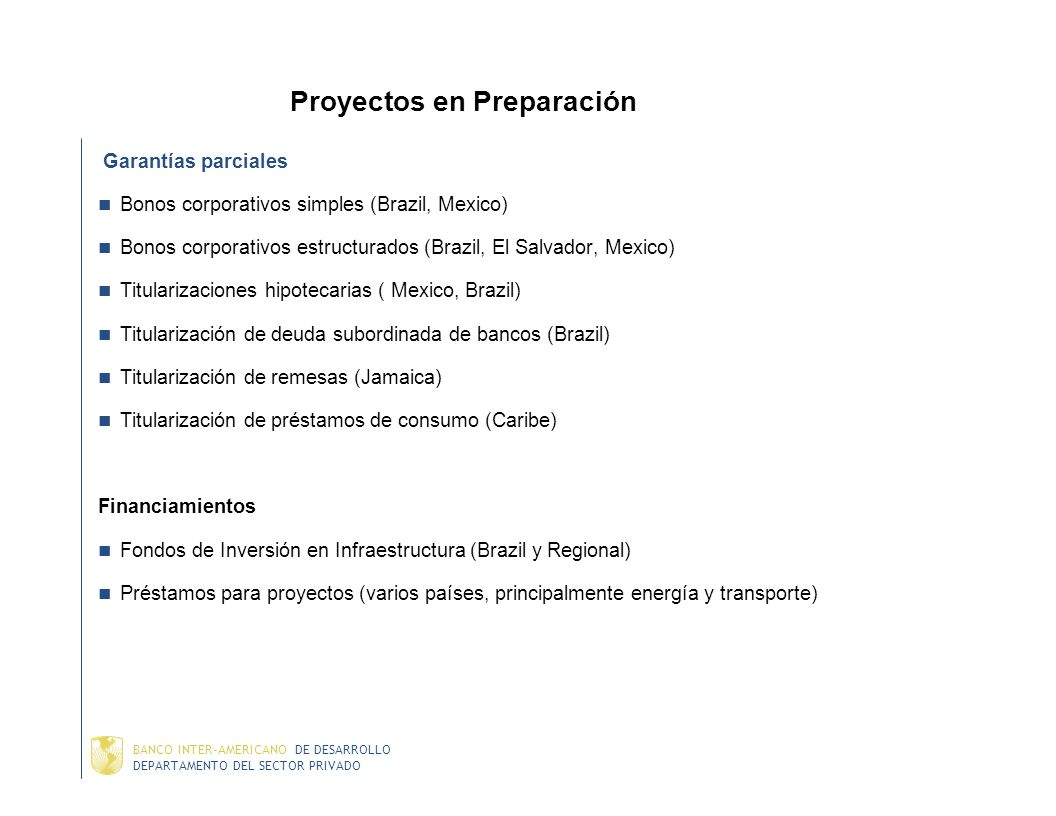 Proyectos en Preparación