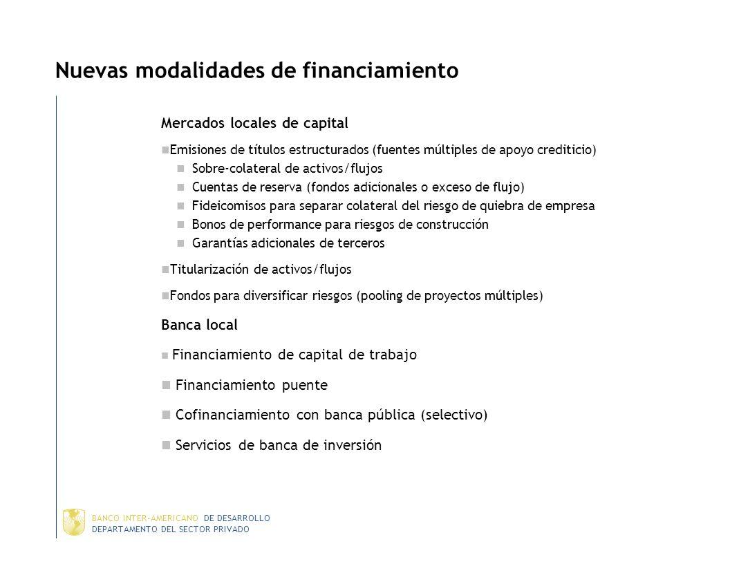 Nuevas modalidades de financiamiento