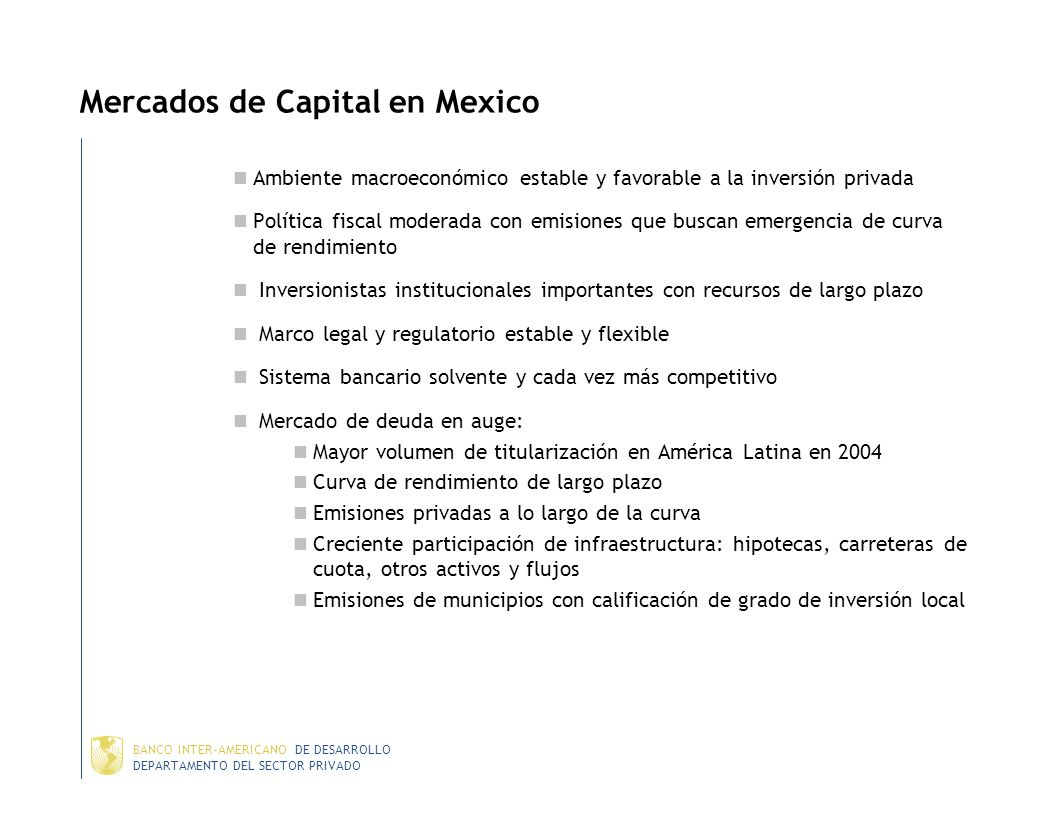 Mercados de Capital en Mexico