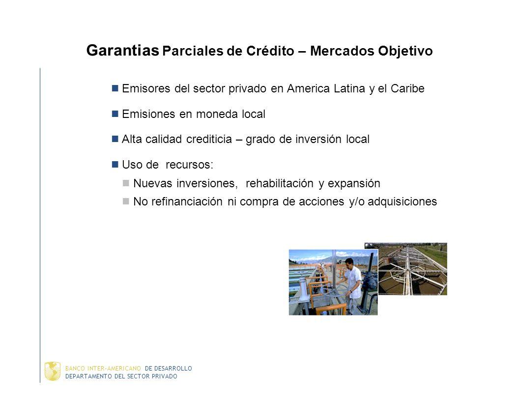 Garantias Parciales de Crédito – Mercados Objetivo