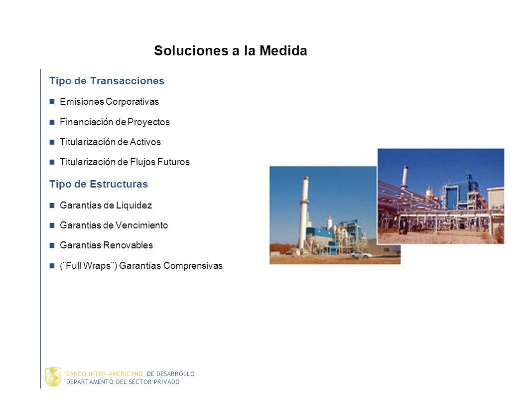 Soluciones a la Medida Tipo de Transacciones Tipo de Estructuras