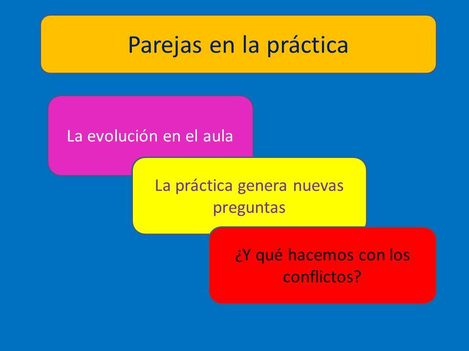 Parejas en la práctica La evolución en el aula