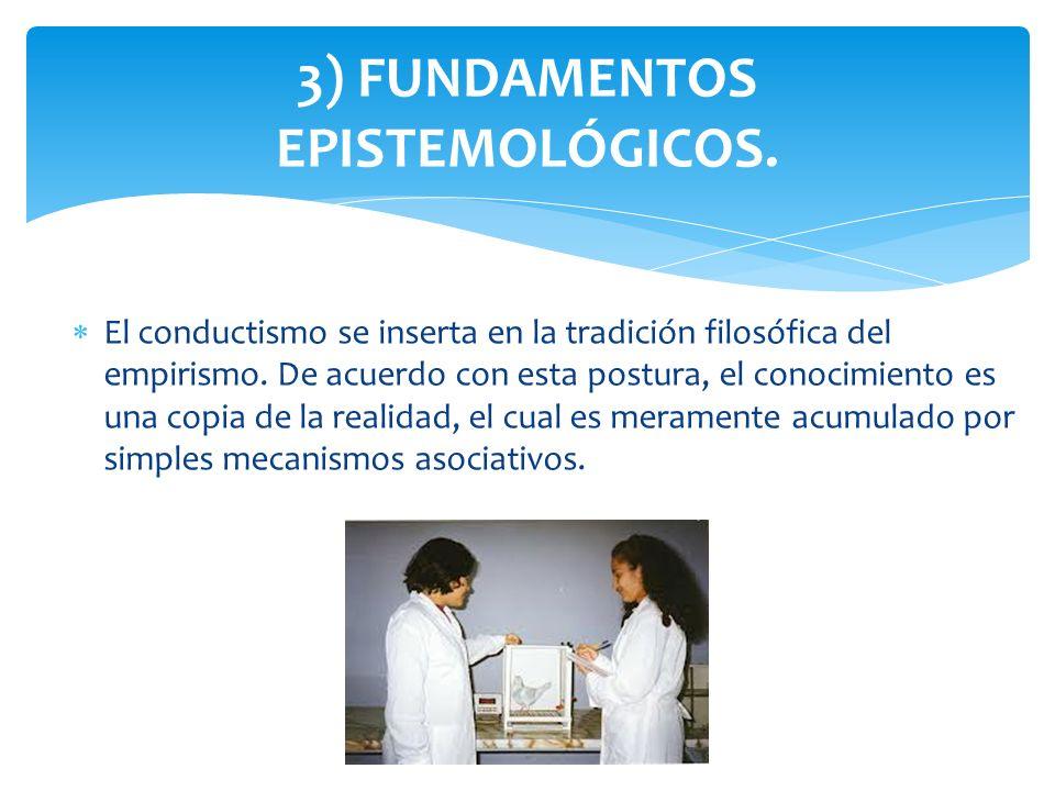 3) FUNDAMENTOS EPISTEMOLÓGICOS.
