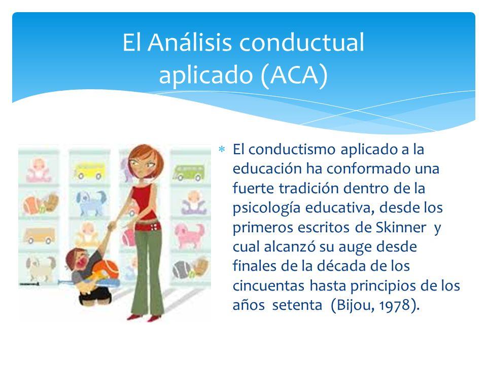 El Análisis conductual aplicado (ACA)