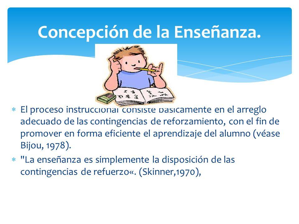 Concepción de la Enseñanza.
